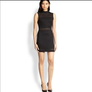 Elizabeth and James Neri lattice Black Dress